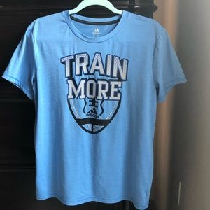 "Adidas ""TRAIN MORE"" tee shirt short sleeve"